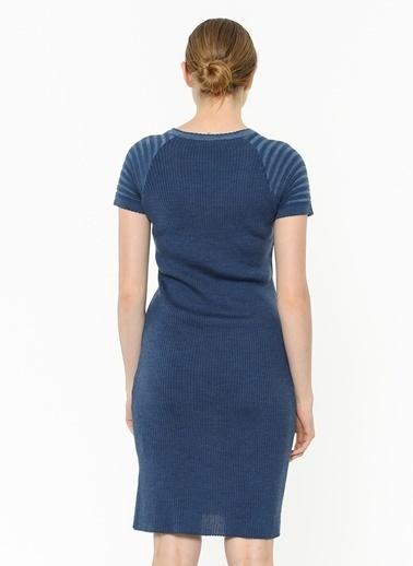 Asymmetry Elbise Lacivert